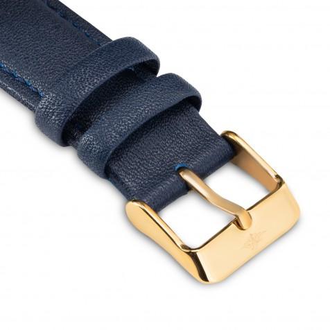 حزام جلد ازرق داكن