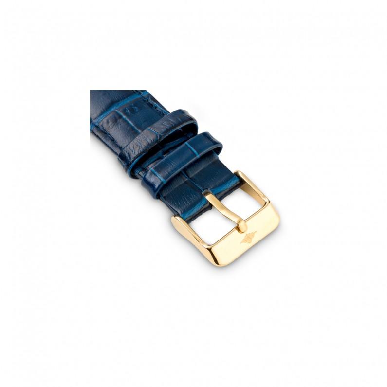 حزام جلد ازرق داكن كلاسيك
