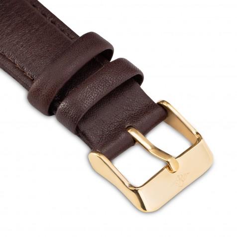 حزام جلد بني داكن